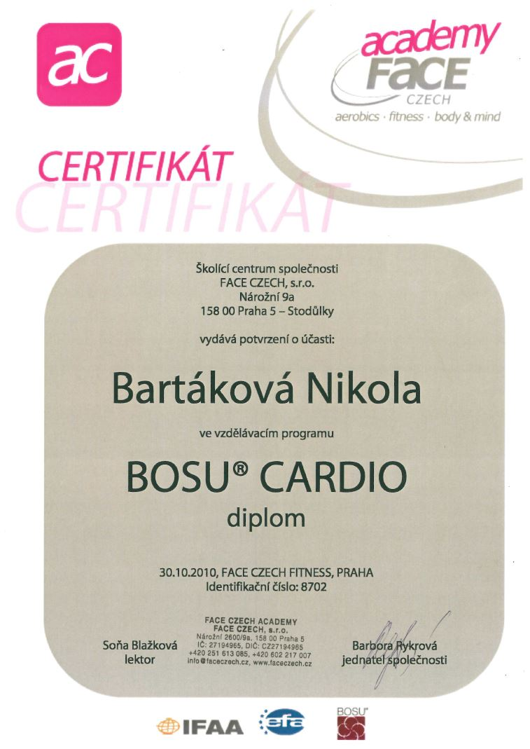 certifikat bosucardio 2010
