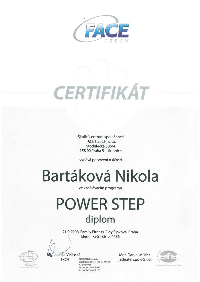 certifikat powerstep 2008