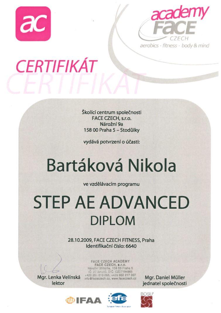 certifikat stepaeadvanced 2009